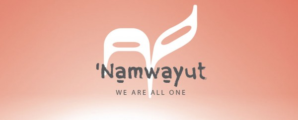 "Namwayut  (""We Are All One"") Reconciliation Canada banner"