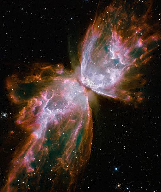 Butterfly Nebula, taken from Hubble Telescope