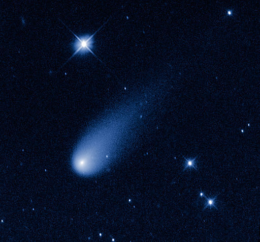 Comet C/2012 S1 (ISON) taken from NASA's Hubble Space Telescope at the time the comet was 403,000,000 miles from Earth, May 8, 2013