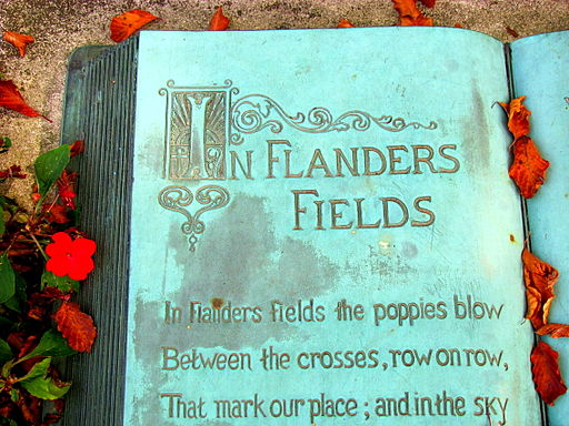 """In Flanders Fields"" from the McCrae House National Historic Site of Canada"