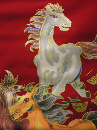 Chinese New Year 2014 - detail from Year of the Horse banner
