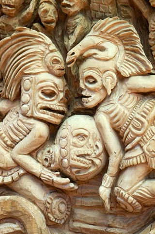 Detail from the Maya panel