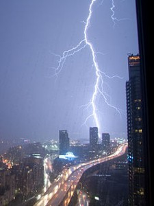 Lightning over Toronto