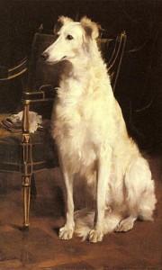 White Dog painting