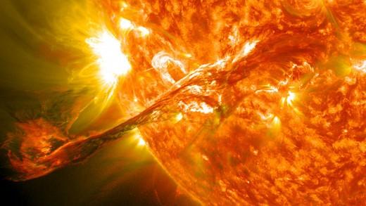 Solar flare on 9 Lamat, 2012