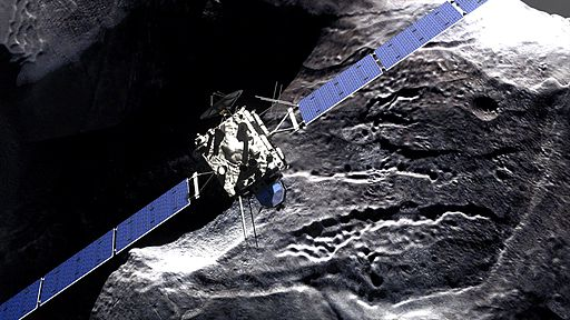 Rosetta comet fly-by