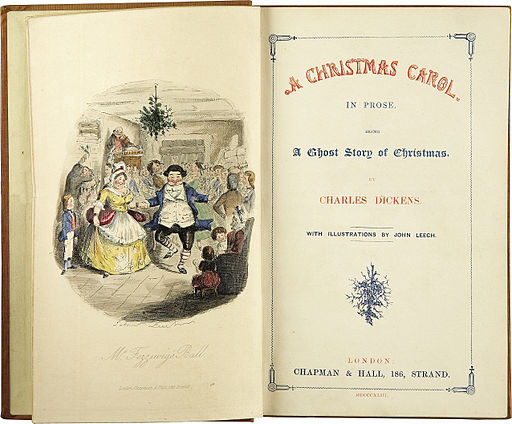 "First Edition of ""A Christmas Carol"" by Charles Dickens"