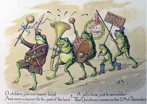 19th century Christmas card by Louis Prang