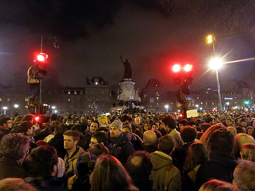 Huge rally in Paris after the Jan. 7th, 2015 terrorist attack. Photo Credit: Jean-no (Own work) [CC BY-SA 4.0 (http://creativecommons.org/licenses/by-sa/4.0)], via Wikimedia Commons