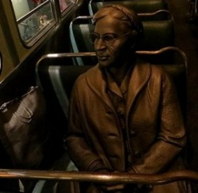 Statue of Rosa Parks on a bus, from the National Civil Rights Museum, Memphis, Tennessee. Photo Credit: Lieske Leunissen-Ritzen (Own work) [CC BY-SA 4.0 (http://creativecommons.org/licenses/by-sa/4.0)], via Wikimedia Commons