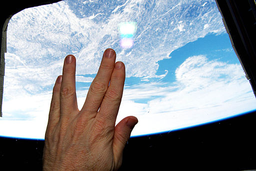 Vulcan salute from orbit