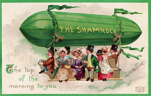 1908 St. Patrick's' Day postcard