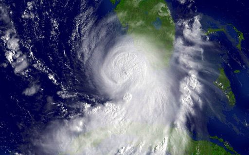 Hurricane Katrina from space on 8 Kimi, 2015 (3 days before reaching New Orleans on 11 Muluk). Photo Credit: the U.S. National Oceanic and Atmospheric Administration, via Wikimedia Commons