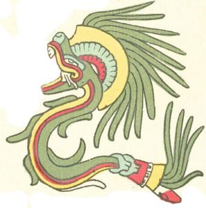 Quetzalcoatl, the Plumed Serpent, from the Codex Telleriano Remensis
