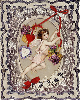 Victorian Valentine card. Public Domain via Wikimedia Commons