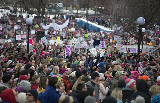 Women's March against Trump on Jan. 21st. Photo Credit: Fibonacci Blue from Minnesota, [CC BY 2.0], via Wikimedia Commons